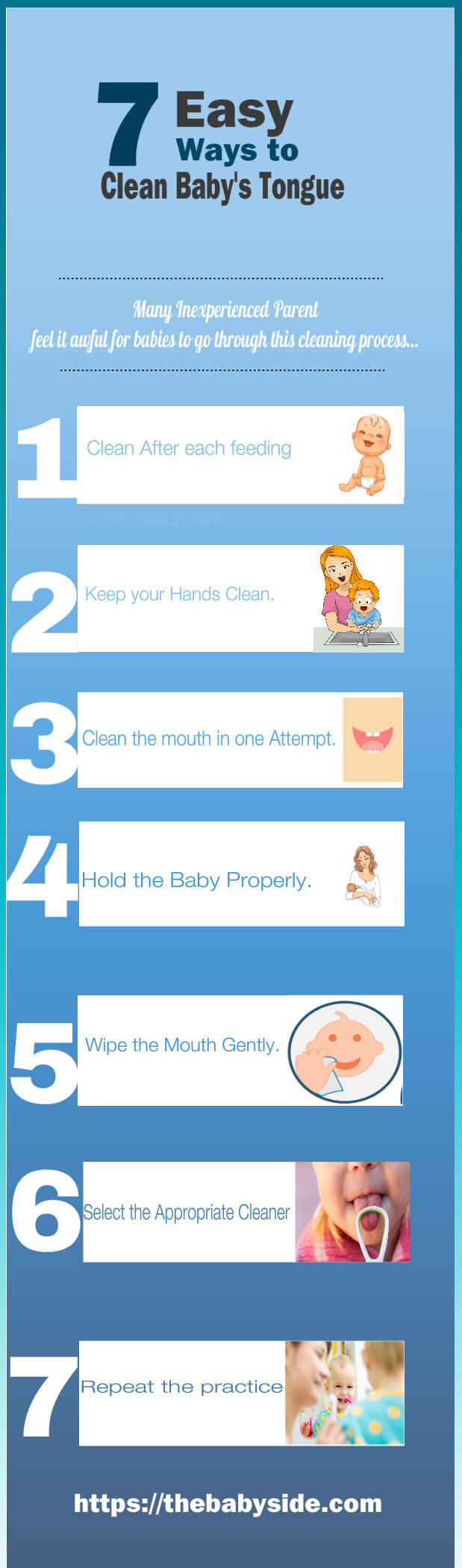 how to clean baby tongue