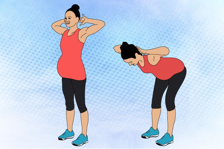 standing crunches pregnancy