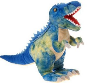 Fiesta Toys Blue T-Rex Plush Stuffed Animal