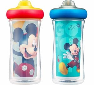 Disney Mickey Mouse Insulated Hard Spout Sippy Cups