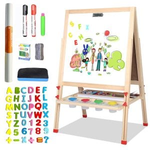 LINAZI Kids Easel, Drawing Board For Toddlers