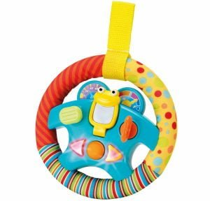 """Steering Wheel Toy """"My Little Driver"""" with Motion Sensors"""