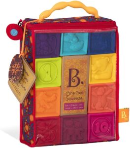 B. toys – One Two Squeeze Baby Blocks
